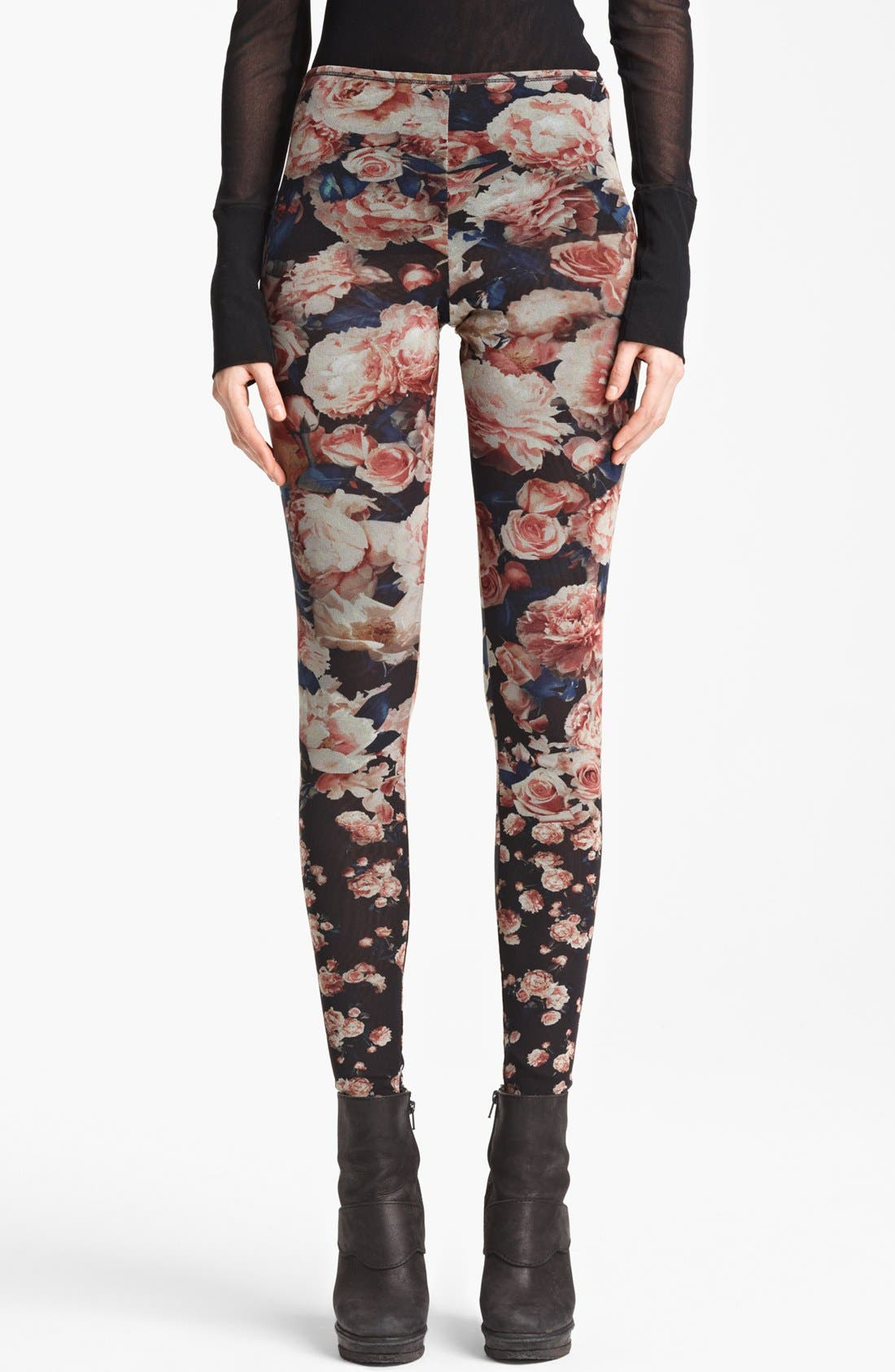 Alternate Image 1 Selected - Jean Paul Gaultier Fuzzi Rose Print Leggings