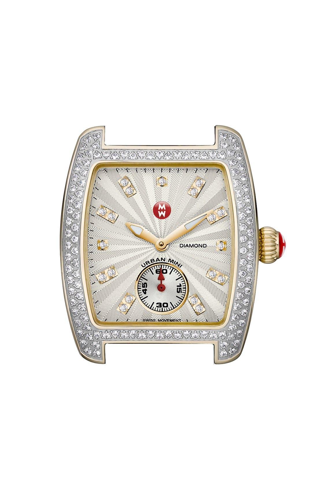Main Image - MICHELE 'Urban Mini Diamond' Two-Tone Watch Case, 29mm x 30mm