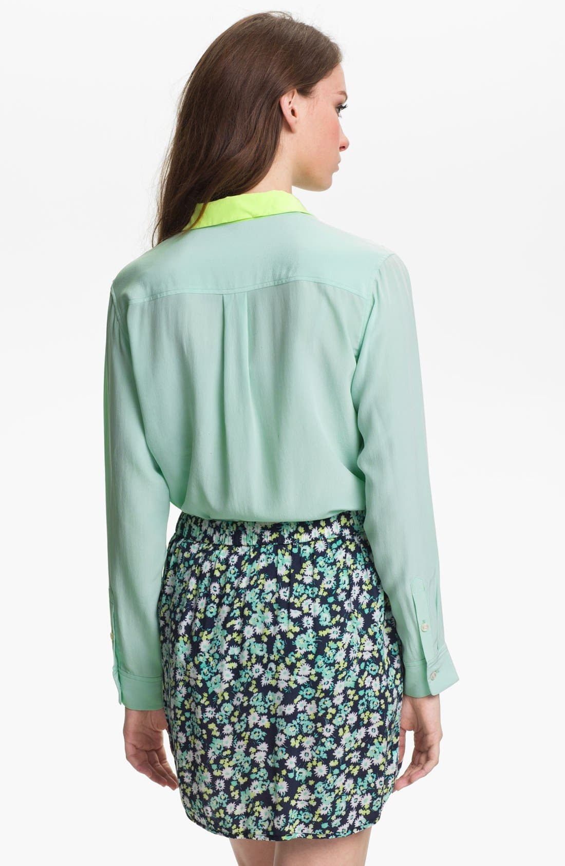 Alternate Image 2  - Two by Vince Camuto Colorblock Utility Shirt