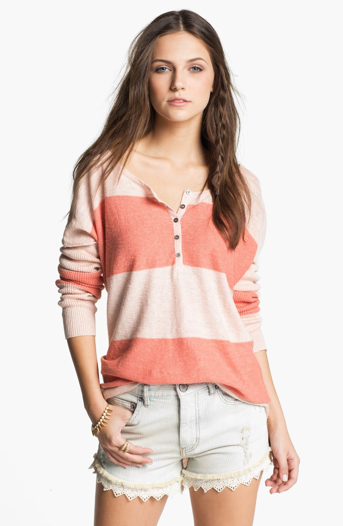 Main Image - Free People 'Gold Rush' Henley Sweater