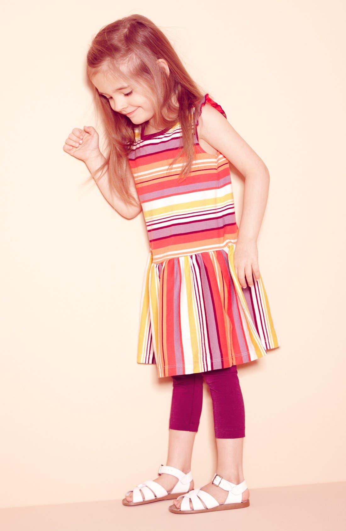Main Image - Tea Collection Dress & Leggings & Hoy Shoe Sandal (Toddler)