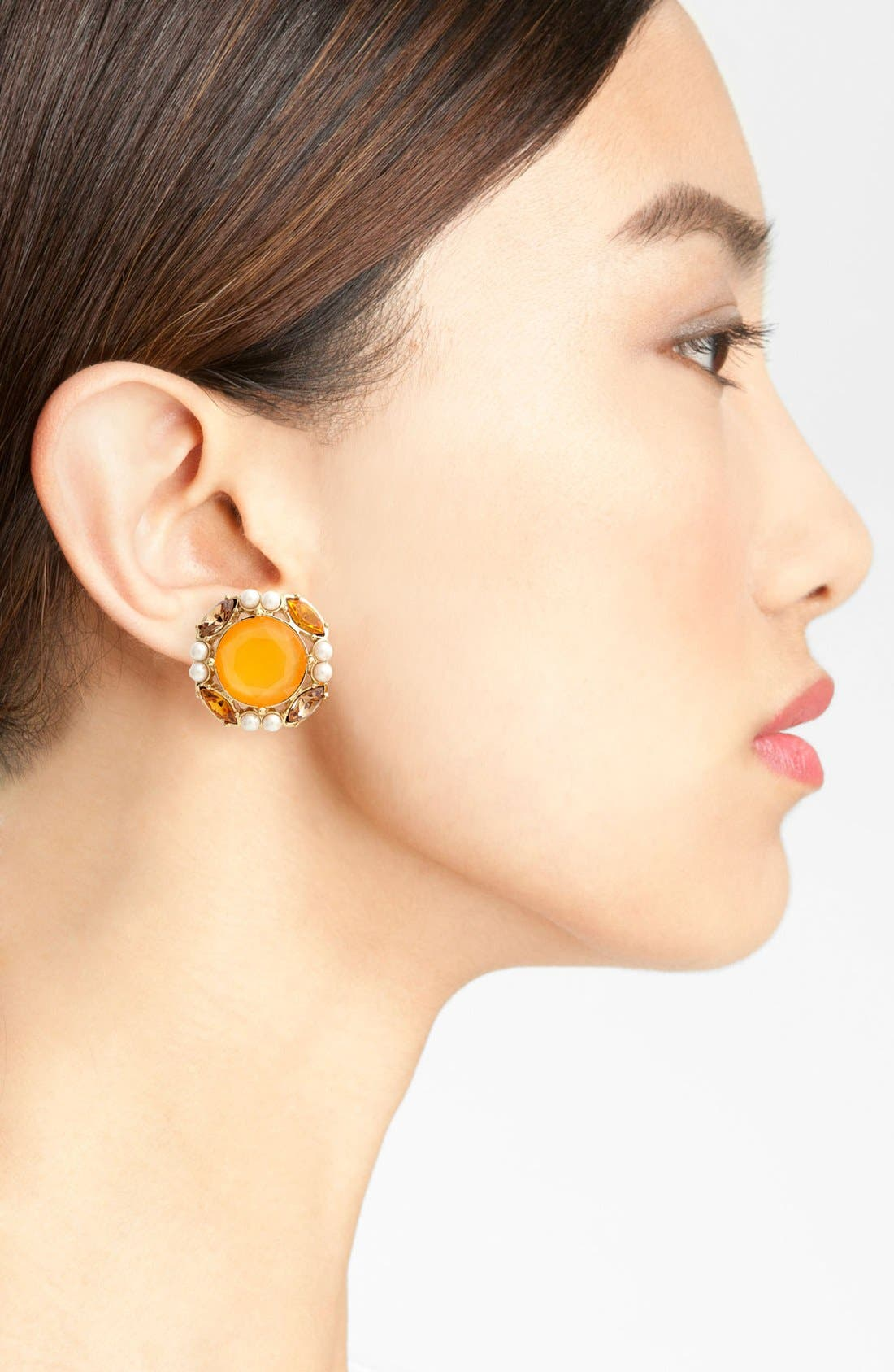 Alternate Image 2  - kate spade new york 'belle fleur' stud earrings