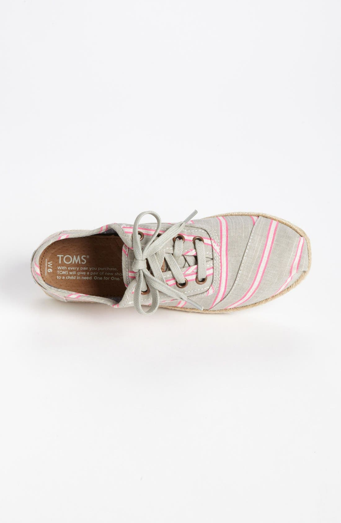 Alternate Image 3  - TOMS 'Cordones - Washed Stripe' Slip-On (Women)