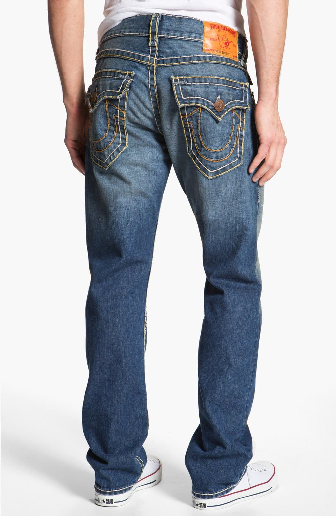 Alternate Image 1 Selected - True Religion Brand Jeans 'Ricky' Straight Leg Jeans (Tribute)