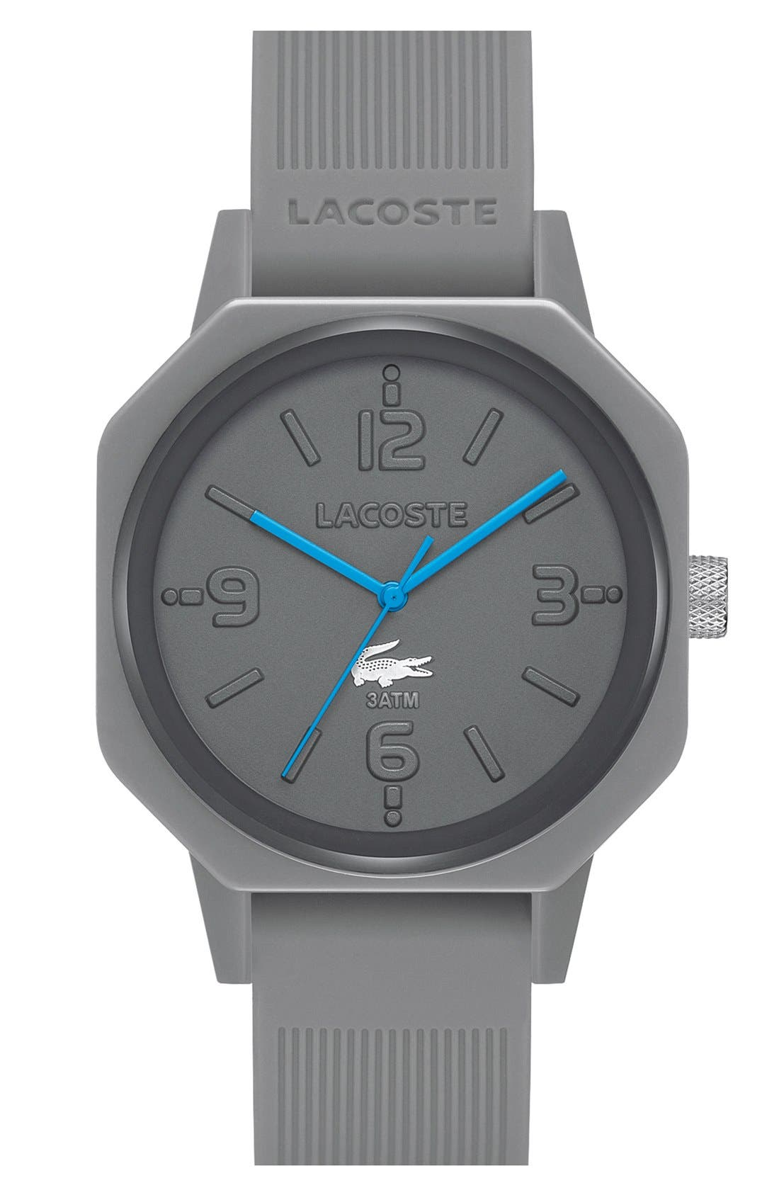 Main Image - Lacoste '80th Anniversary' Silicone Strap Watch, 42mm