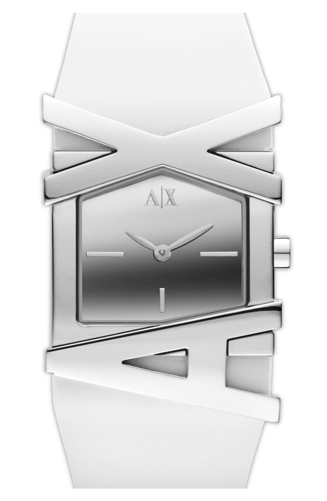 Alternate Image 1 Selected - AX Armani Exchange Logo Watch, 39mm x 28mm