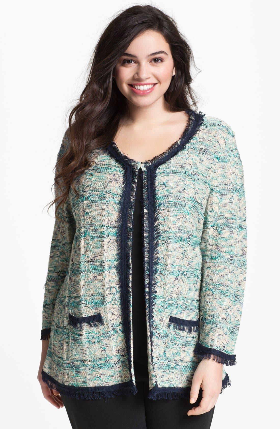 Main Image - Nic + Zoe 'Tweedy' Knit Jacket (Plus Size)