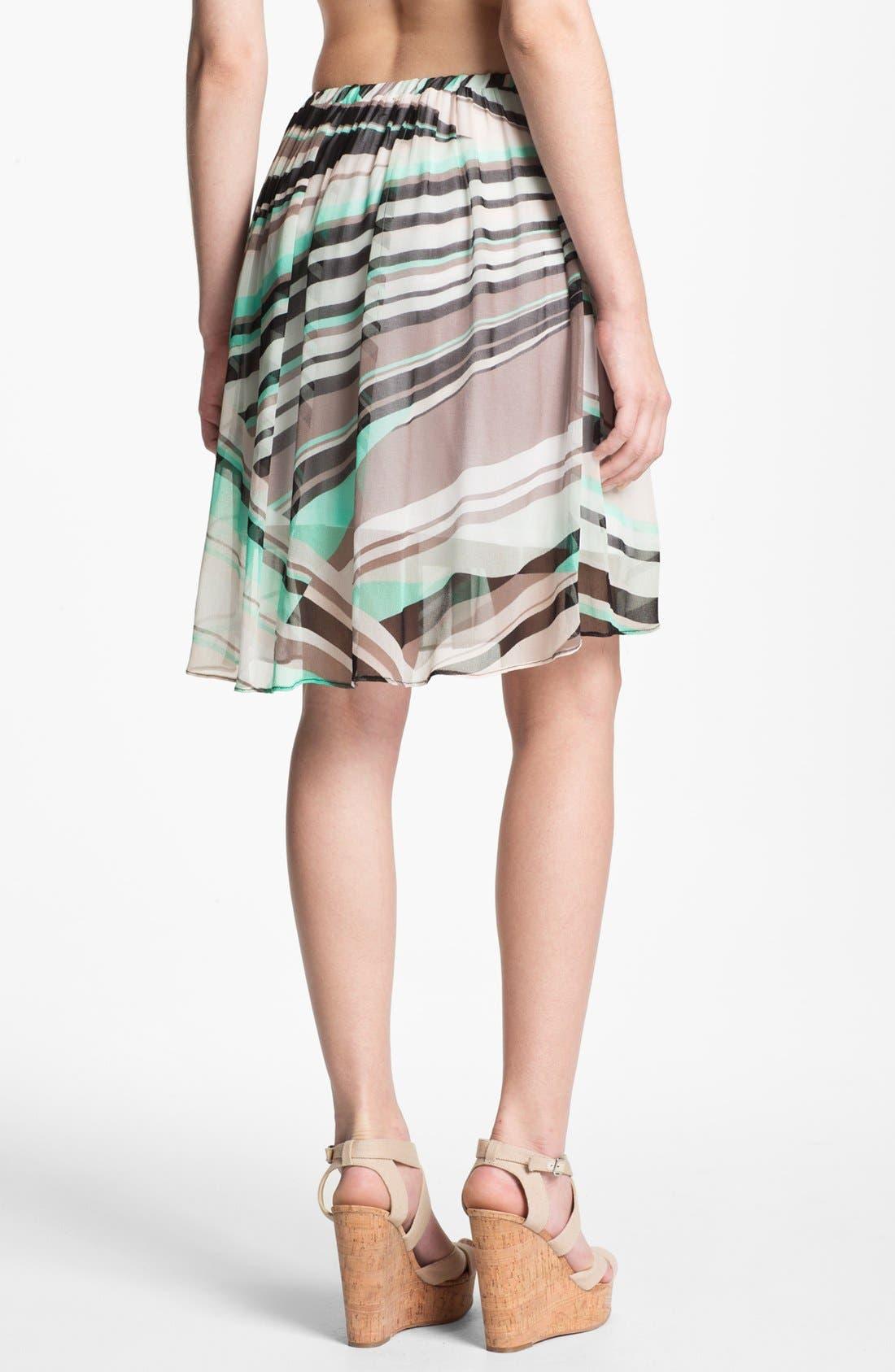 Alternate Image 2  - Ella Moss Print Chiffon Skirt