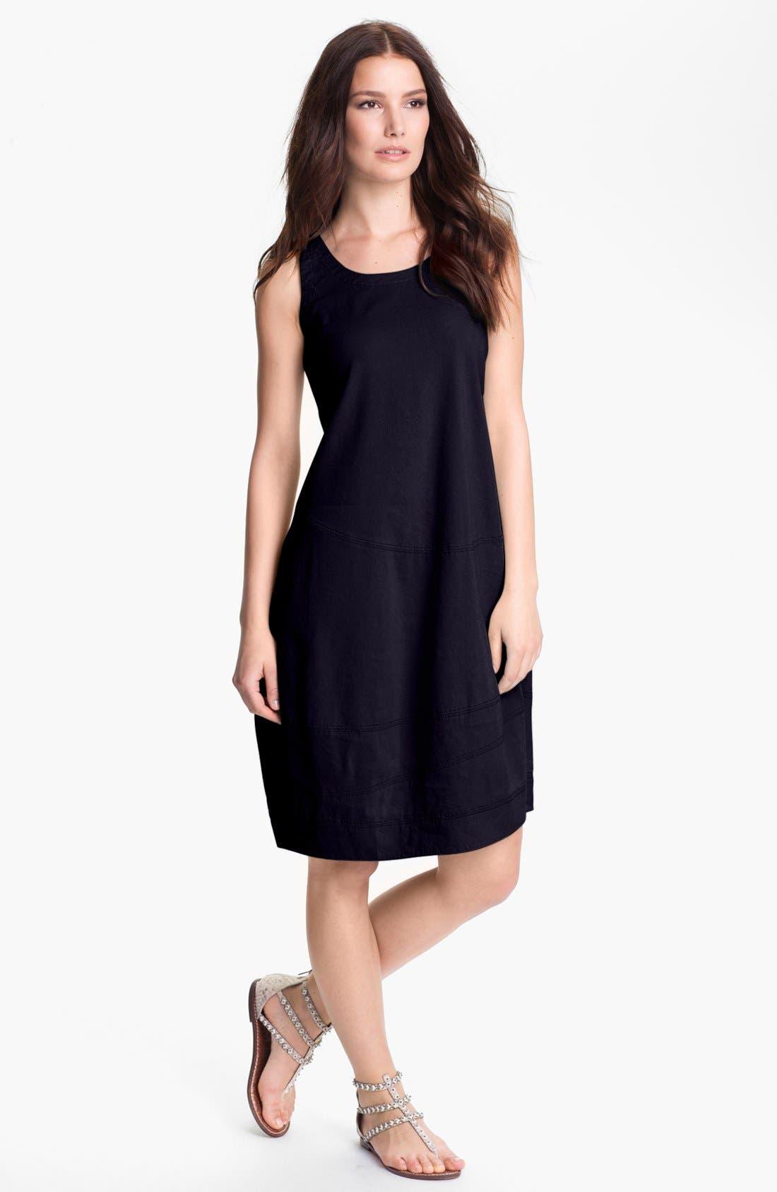 Alternate Image 1 Selected - Eileen Fisher Linen Blend Lantern Dress