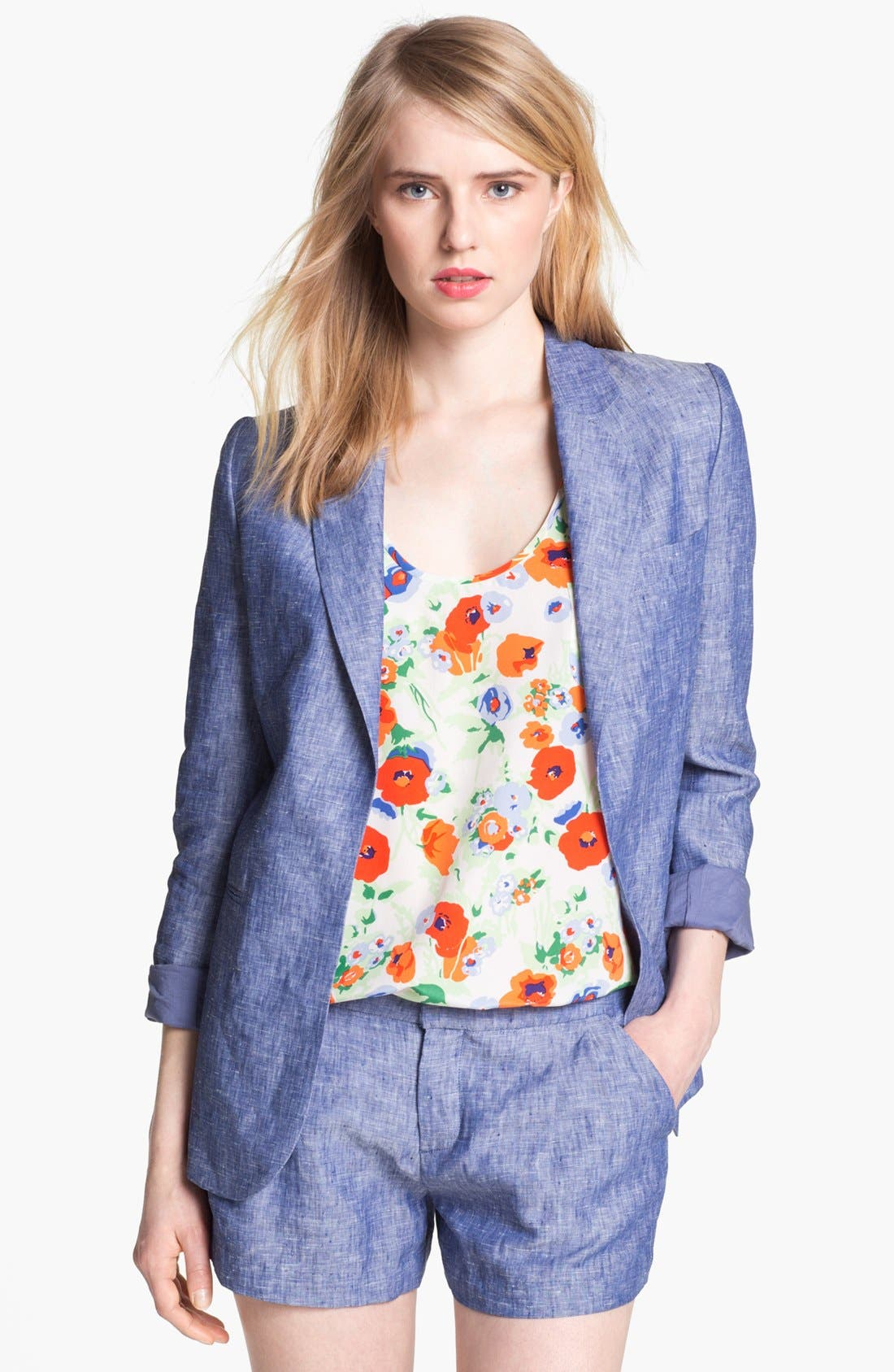 Alternate Image 1 Selected - Joie 'Mehire A.' Chambray Blazer