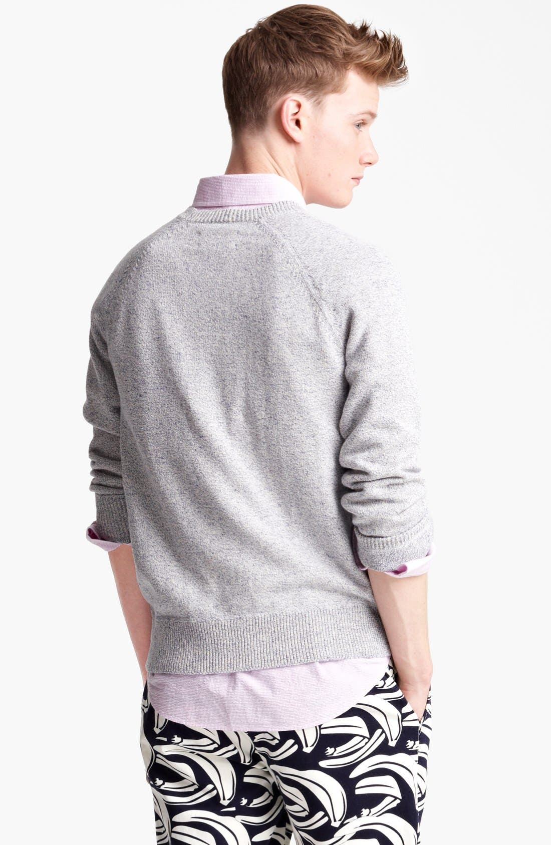 Alternate Image 2  - Jack Spade 'Dawson' Cotton & Linen Crewneck Sweater