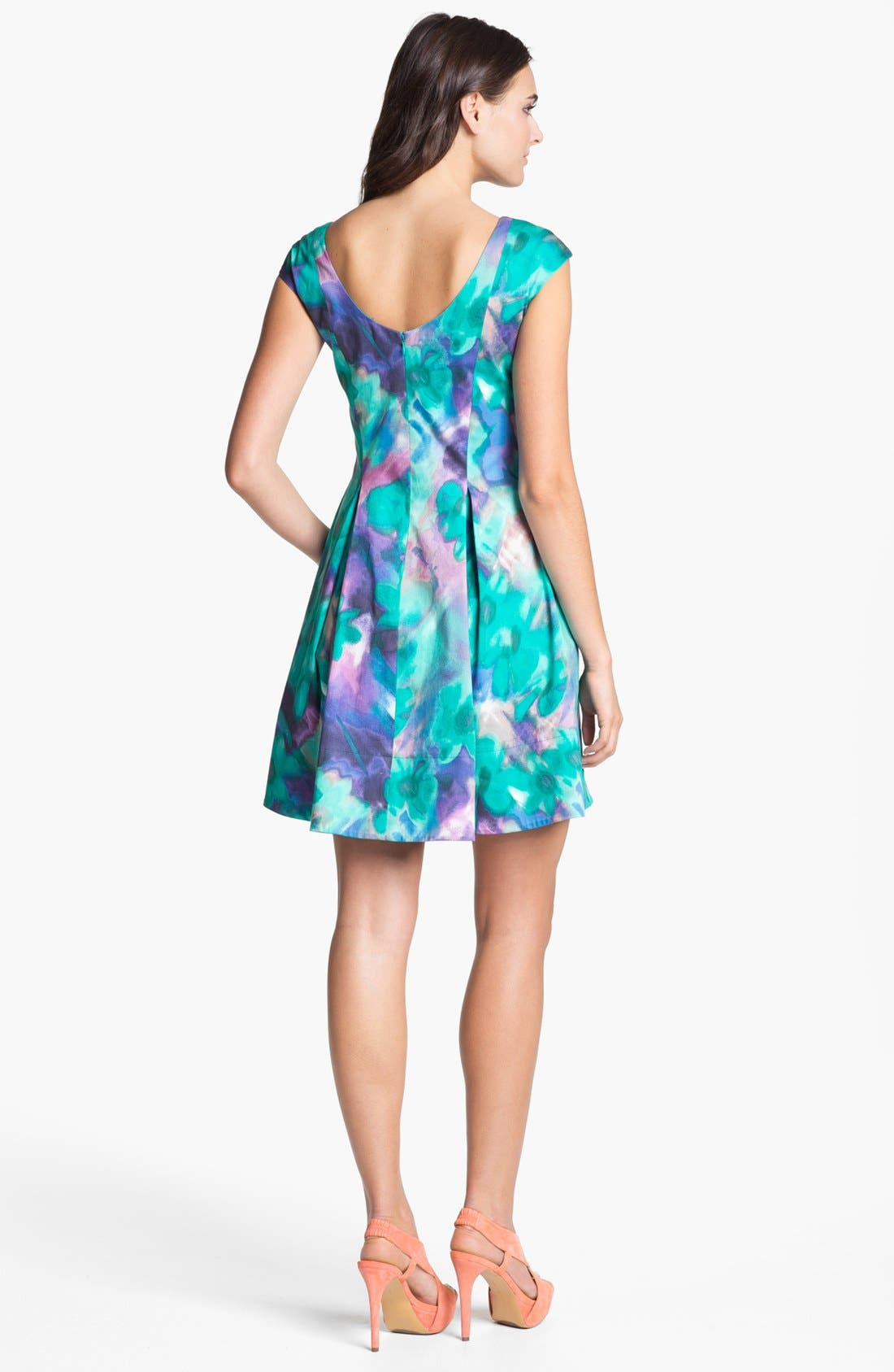 Alternate Image 2  - Eliza J Print Fit & Flare Dress