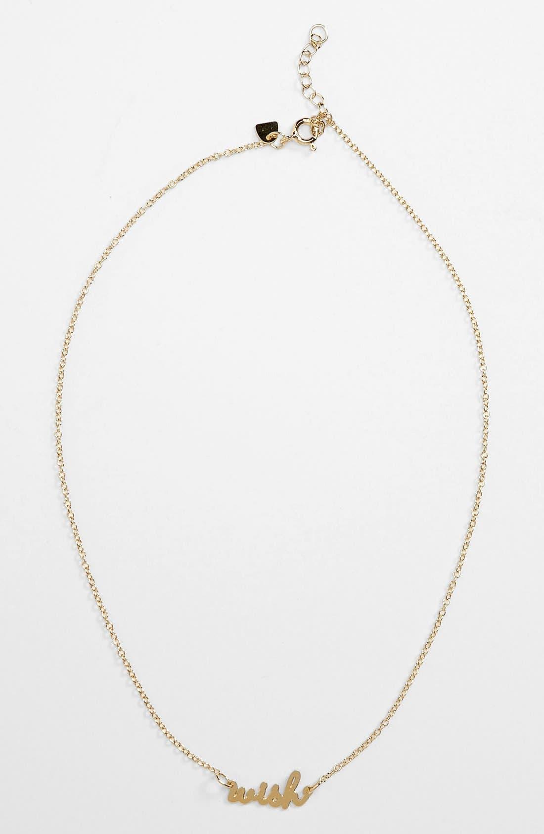 Main Image - 100% Gumdrop 'Word Up! - Wish' Necklace (Girls)