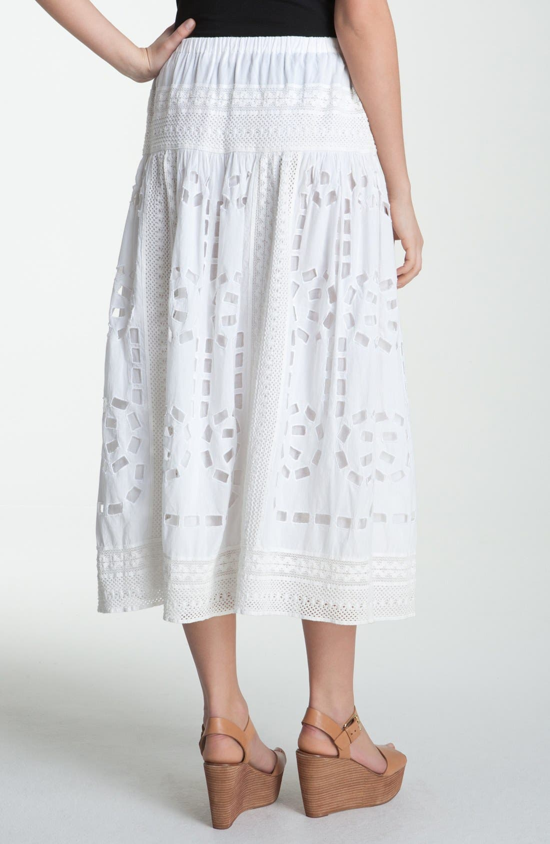 Alternate Image 2  - MICHAEL Michael Kors Crochet & Eyelet Skirt