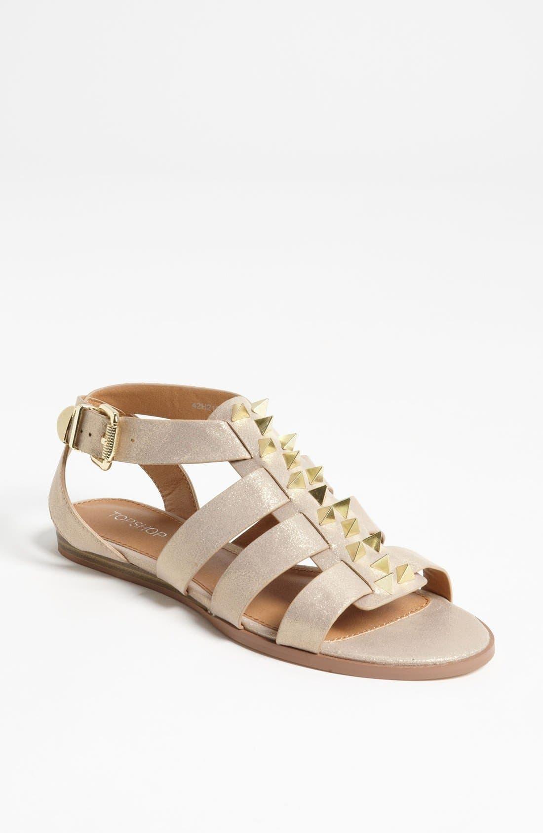Alternate Image 1 Selected - Topshop 'Hope Stud' Gladiator Sandal