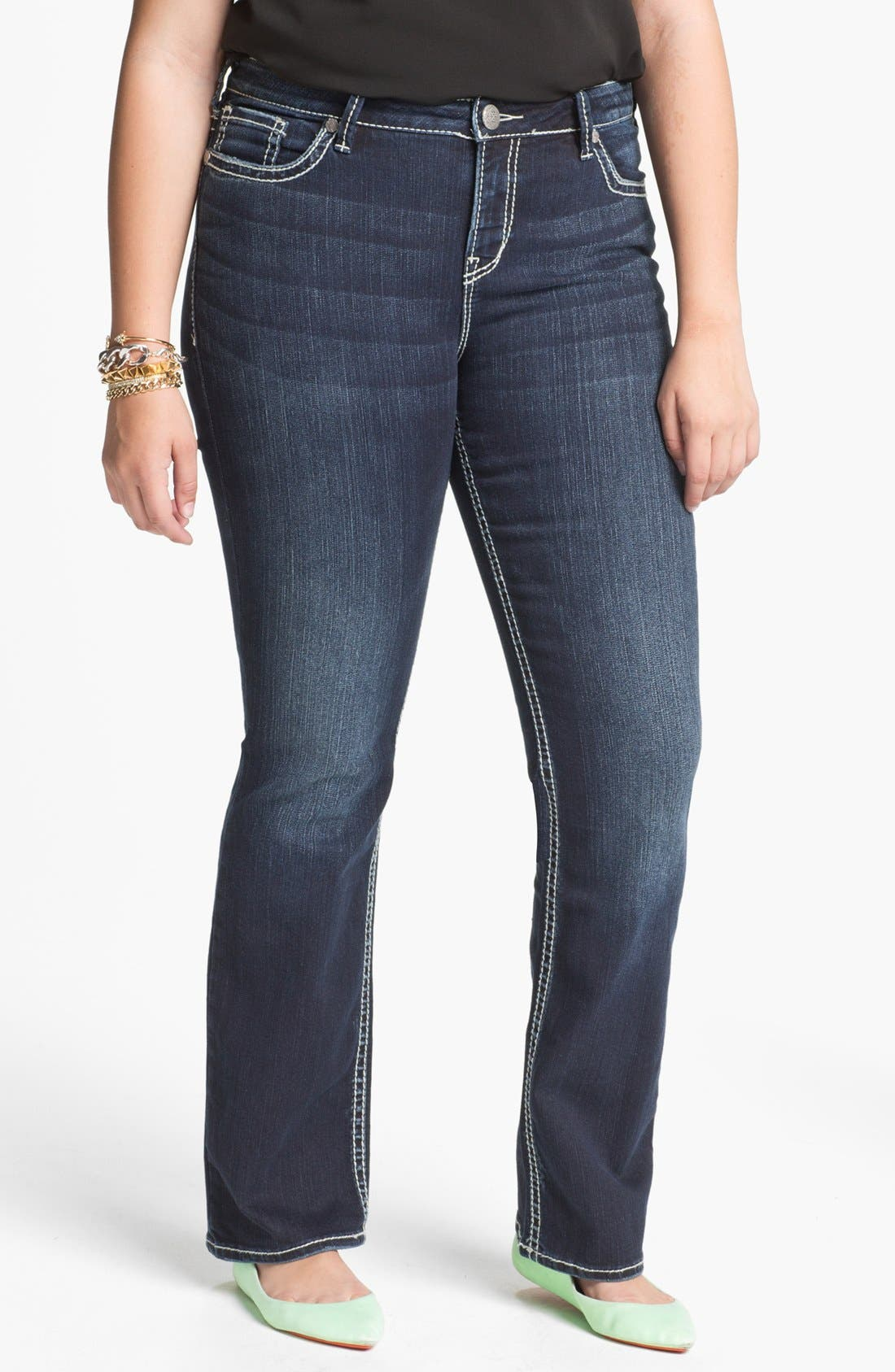 Alternate Image 1 Selected - Silver Jeans Co. 'Natsuki' Bootcut Jeans (Juniors Plus)