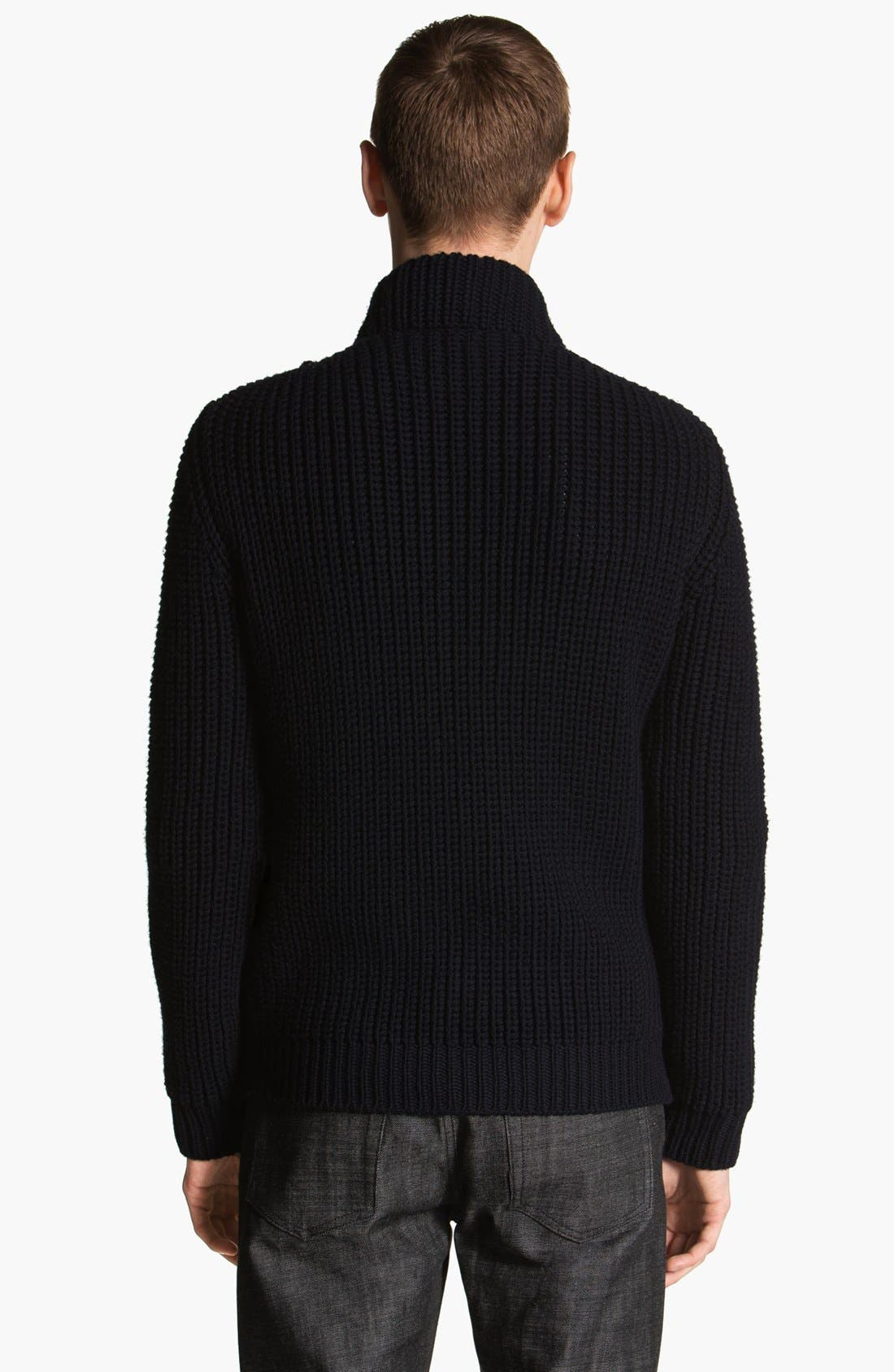Alternate Image 2  - Lanvin Cable Knit Zip Sweater