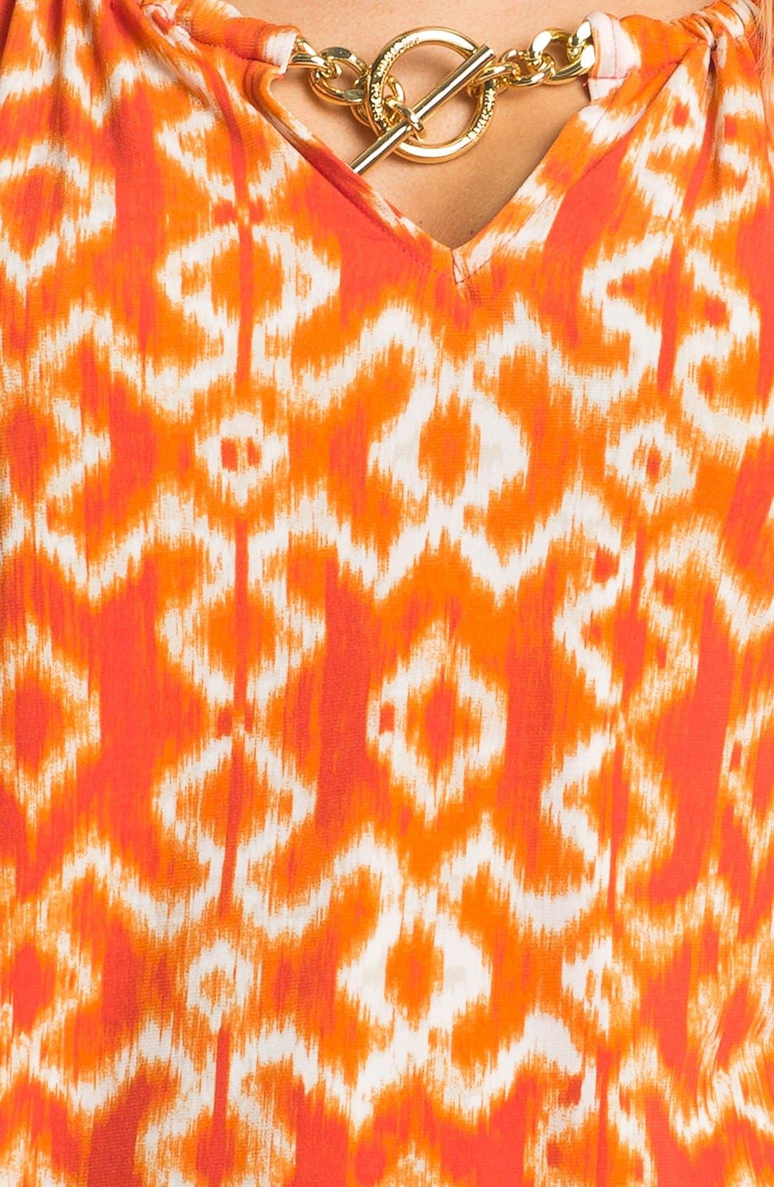 Alternate Image 3  - MICHAEL Michael Kors Print Blouson Peasant Top (Petite)