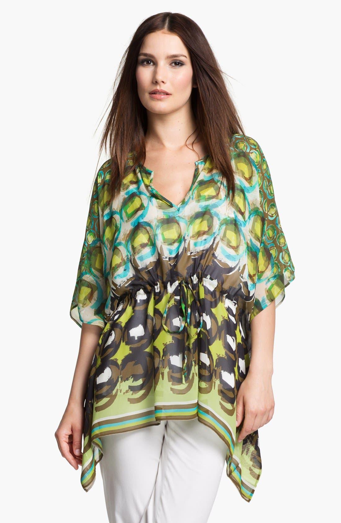 Main Image - Lafayette 148 New York 'Galia - Shangrila' Silk Tunic