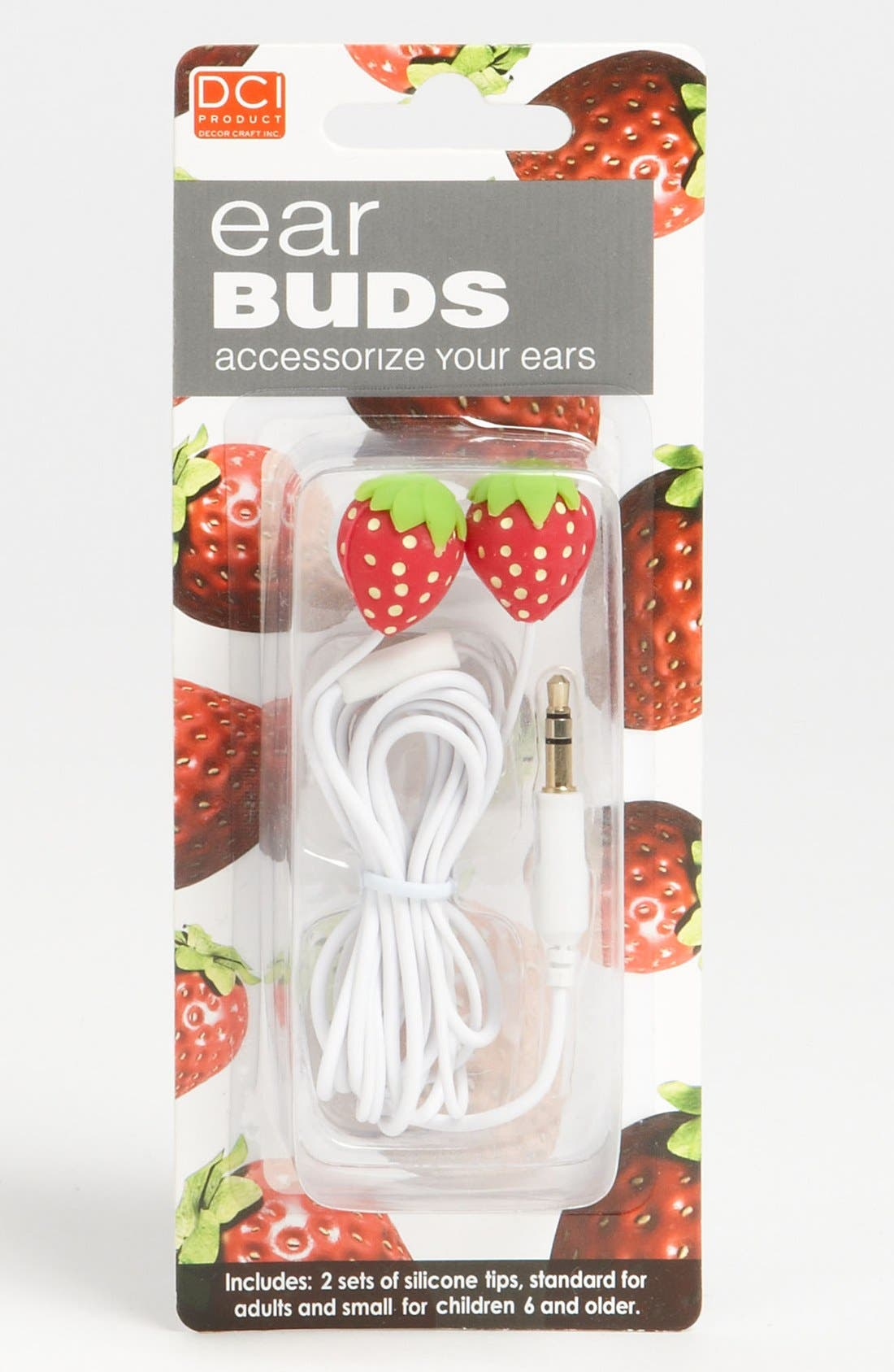 Alternate Image 1 Selected - DCI Strawberry Earbuds (Girls)