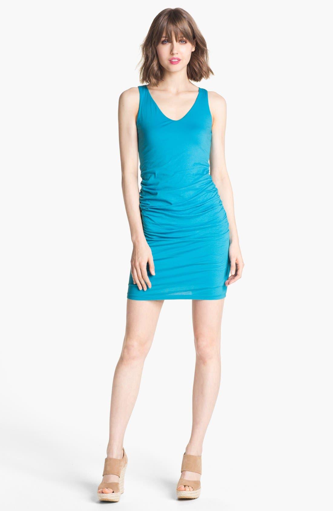 Main Image - Velvet by Graham & Spencer Ruched Jersey Tank Dress