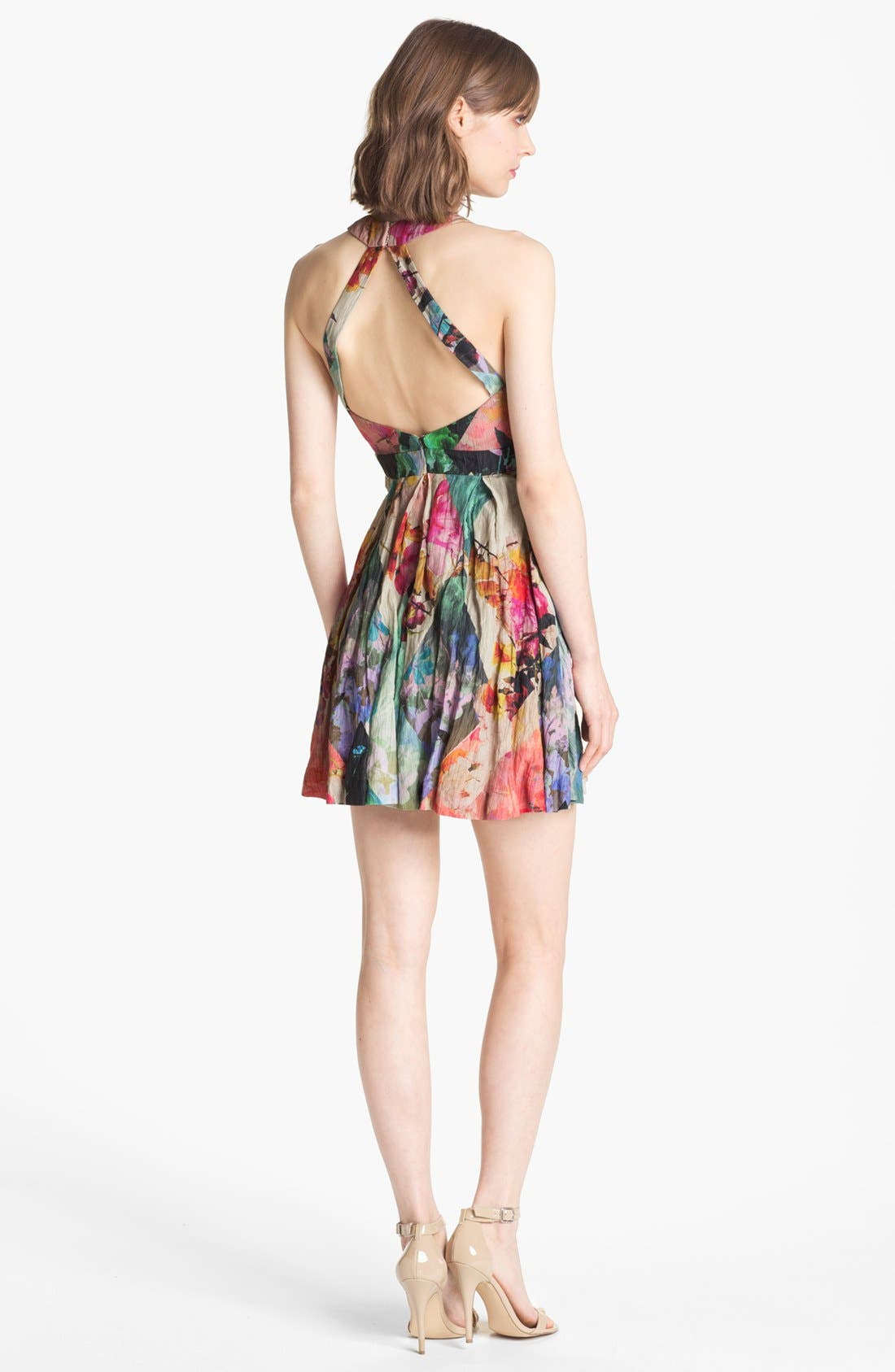 Alternate Image 2  - Nicole Miller 'Blue Eden' Floral Print Fit & Flare Dress