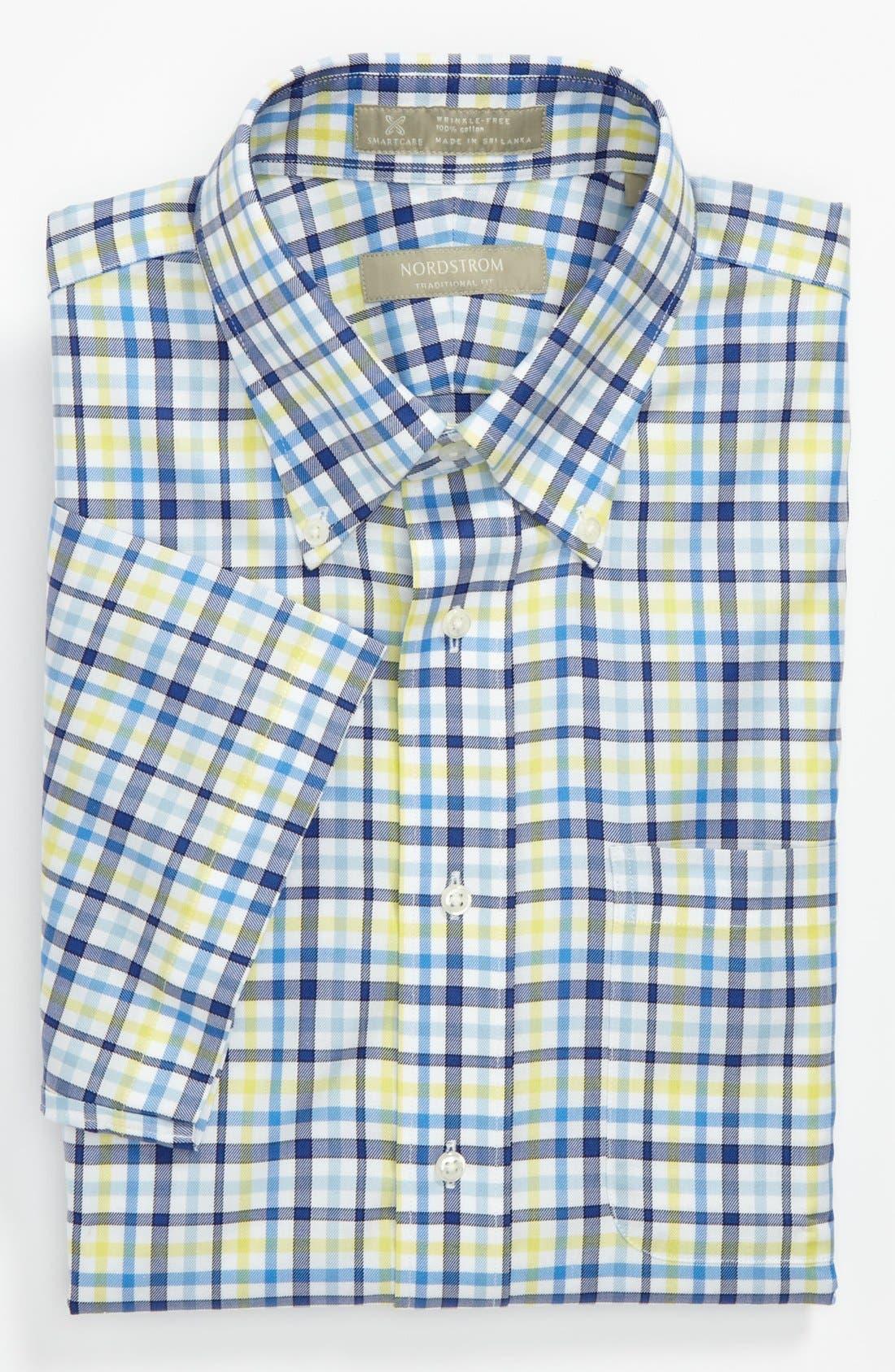 Alternate Image 4  - Nordstrom Smartcare™ Traditional Fit Short Sleeve Dress Shirt