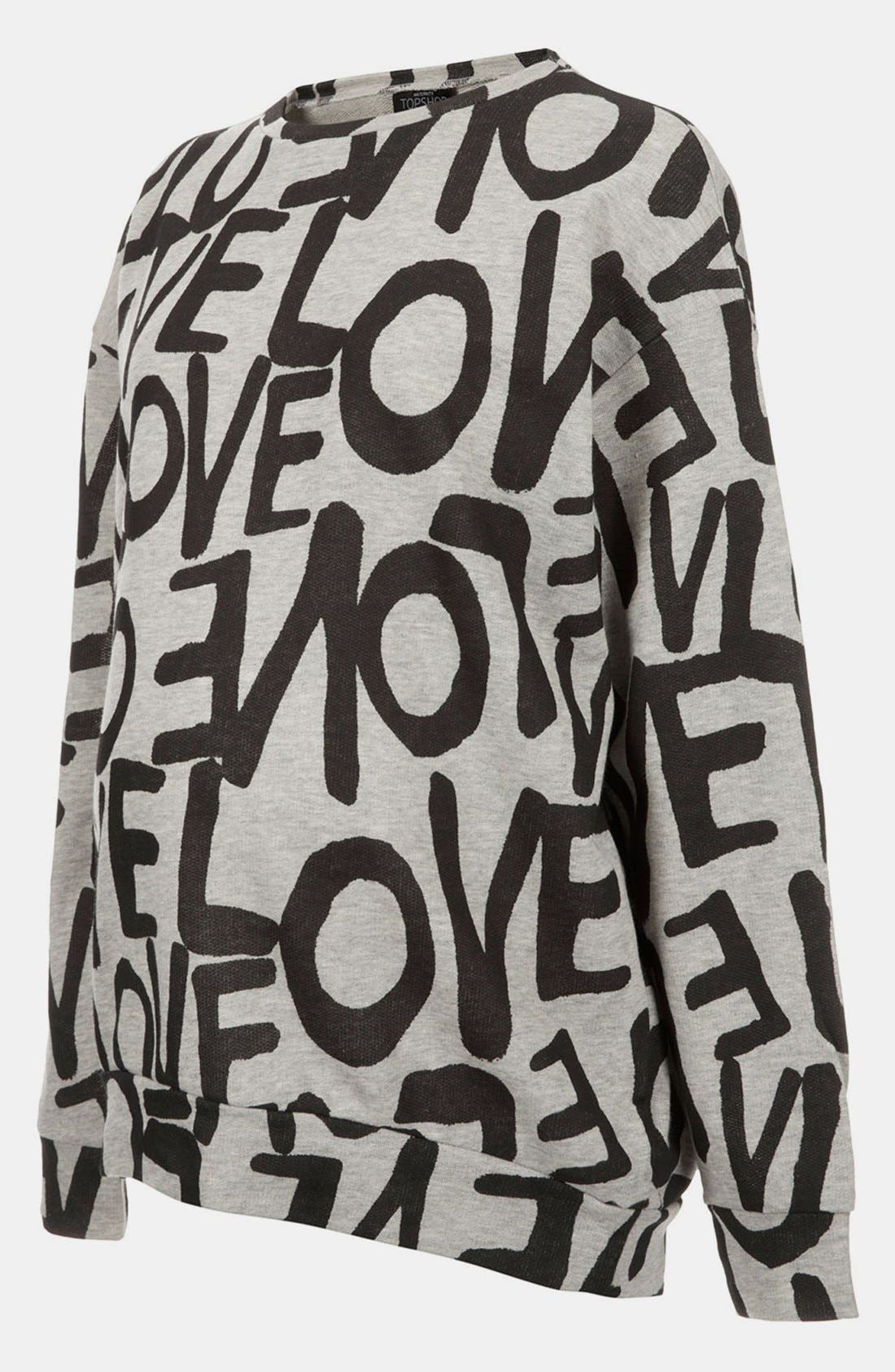 Alternate Image 1 Selected - Topshop 'Love' Maternity Sweatshirt