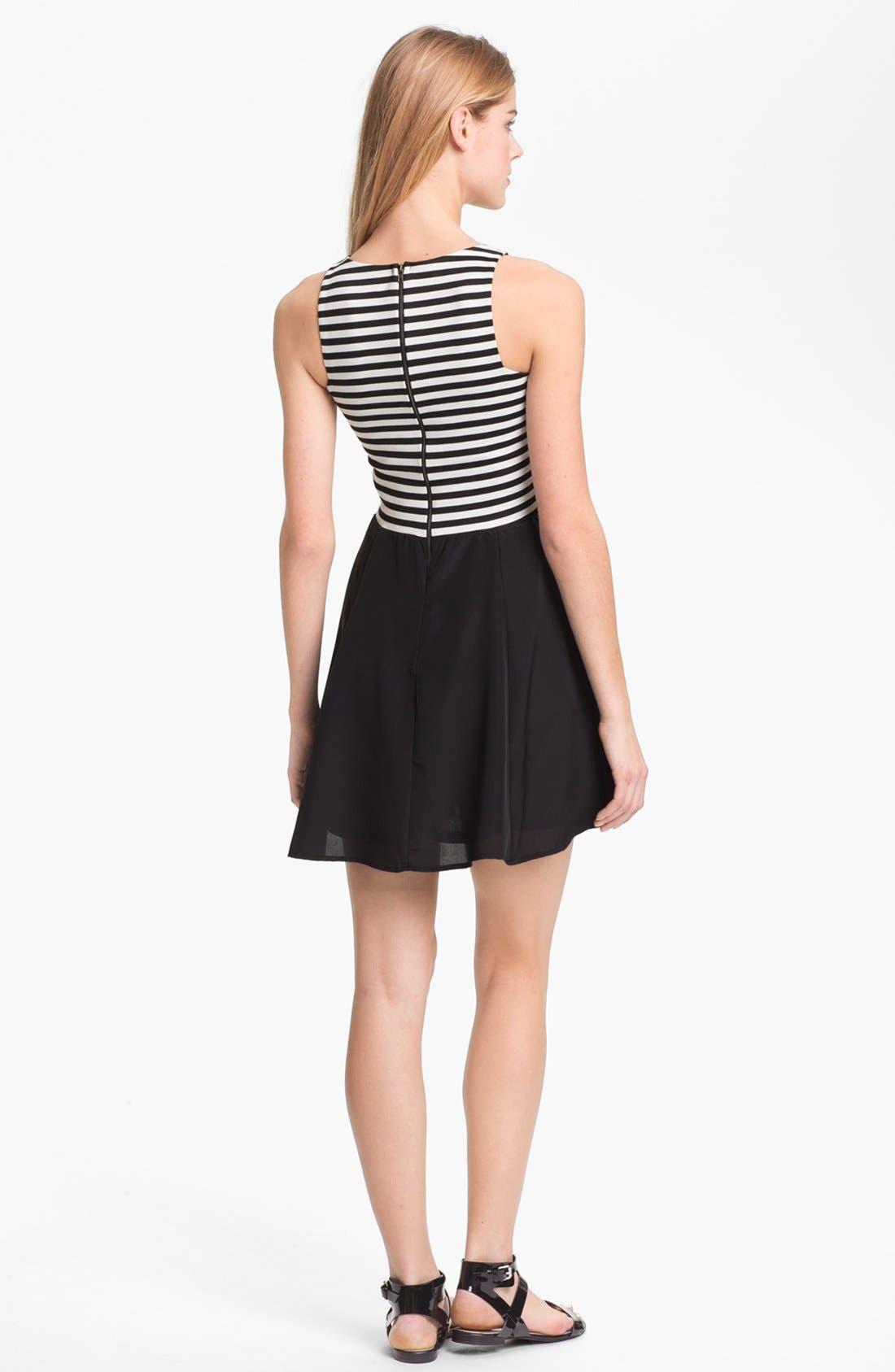 Alternate Image 2  - Eight Sixty Sleeveless Mock Two Piece Dress