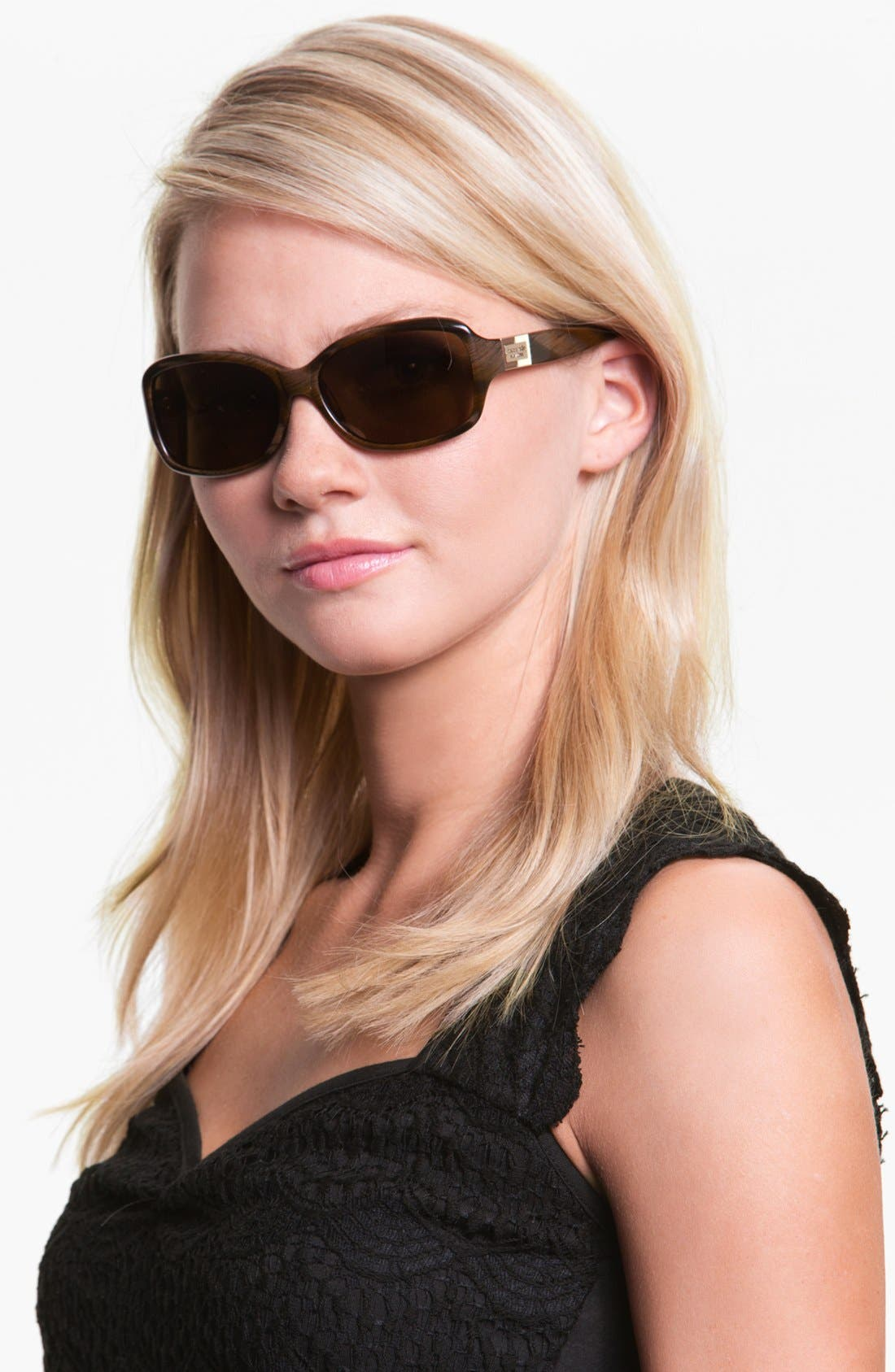 Alternate Image 2  - kate spade new york 'annika' 56mm polarized rectangular sunglasses