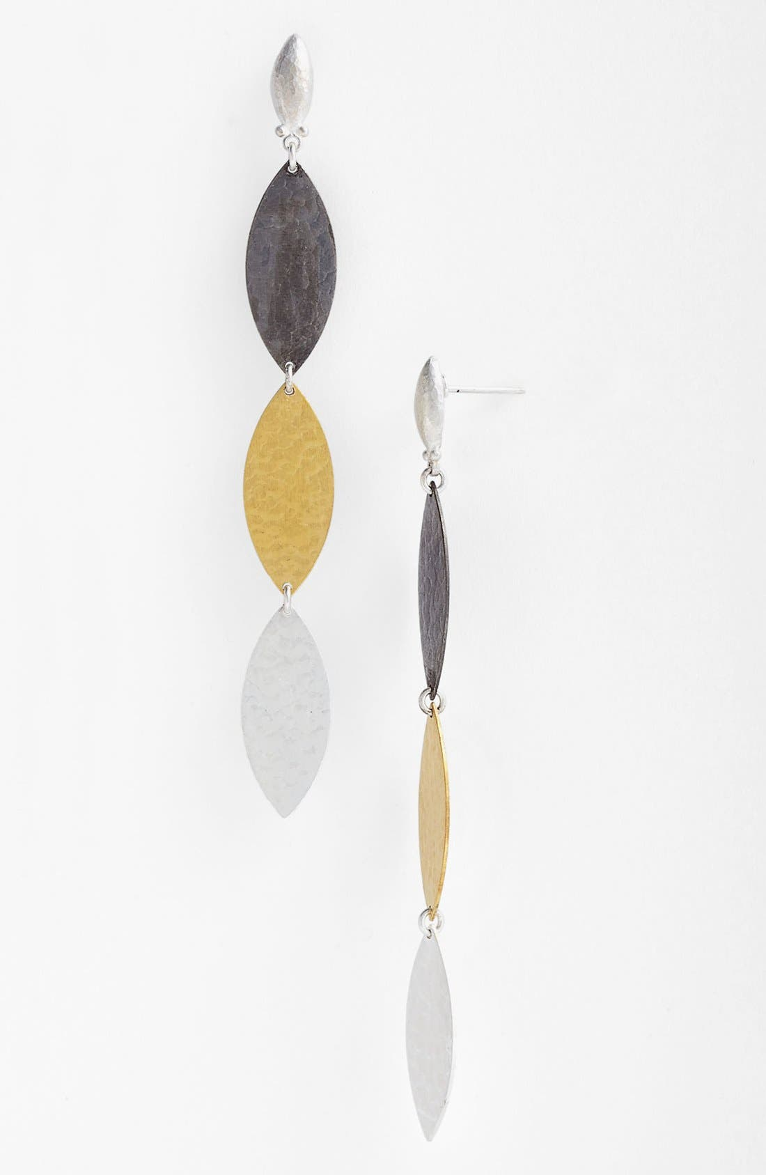 Main Image - Gurhan 'Willow' Mixed Leaf Drop Earrings