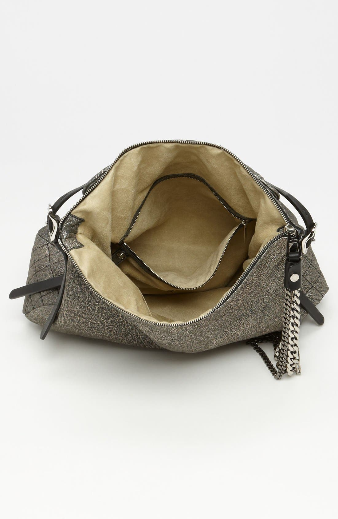 Alternate Image 3  - Jimmy Choo 'Large Boho' Metallic Suede Hobo