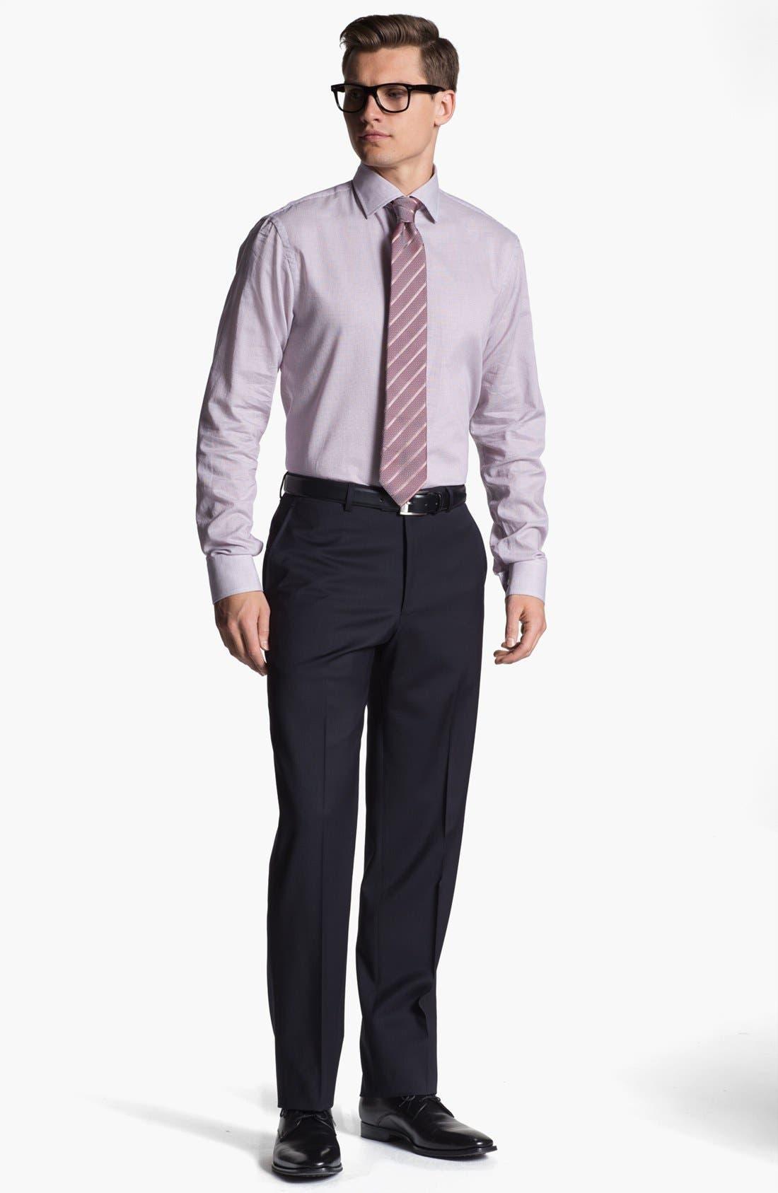 Alternate Image 3  - Armani Collezioni Flat Front Wool Trousers