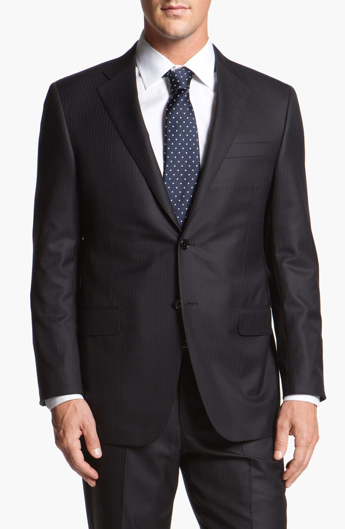 Main Image - Hickey Freeman Stripe Wool Blend Suit