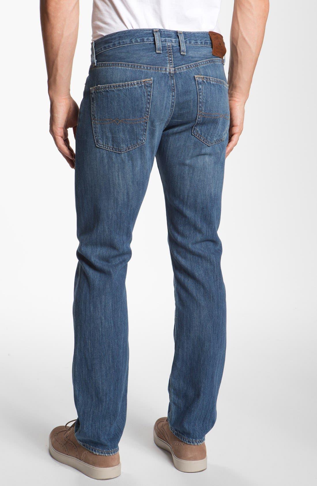 Alternate Image 2  - Lucky Brand '121 Heritage' Slim Straight Leg Jeans (Conejo)
