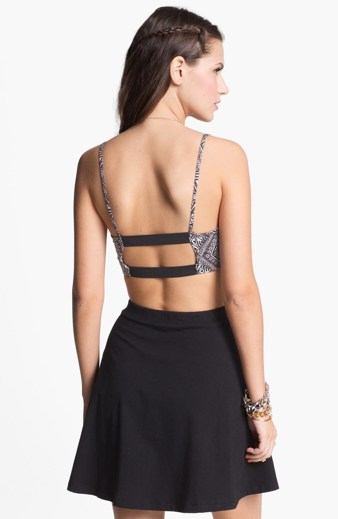 Alternate Image 2  - Painted Threads Cutout Bralette (Juniors) (Online Only)