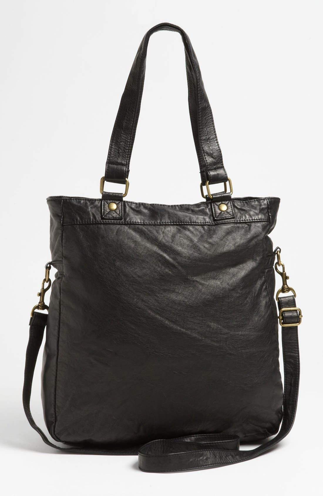 Alternate Image 4  - Lulu 'North South' Faux Leather Tote, Large (Online Only)