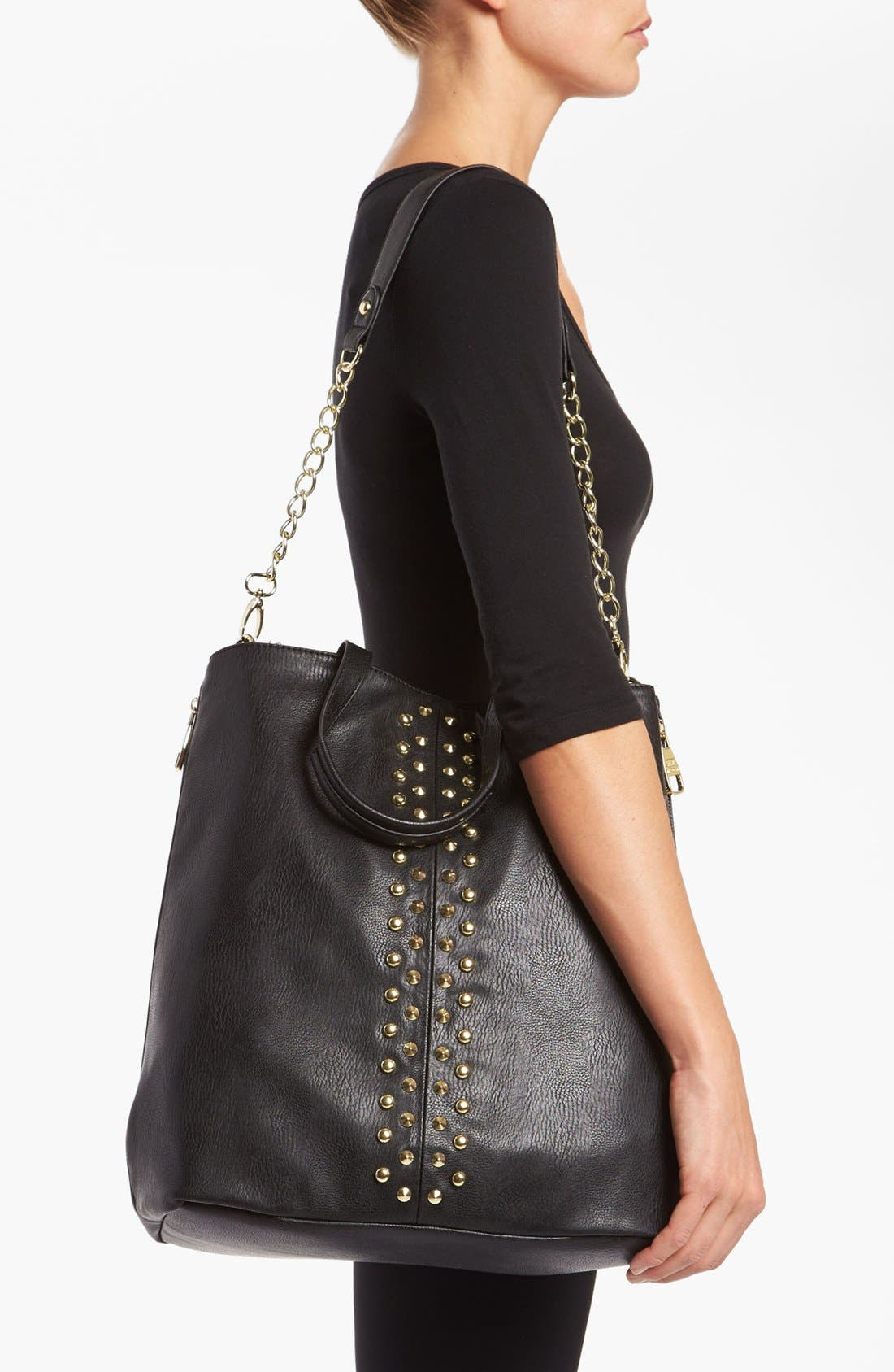 Alternate Image 2  - Steve Madden Studded Faux Leather Tote, Large