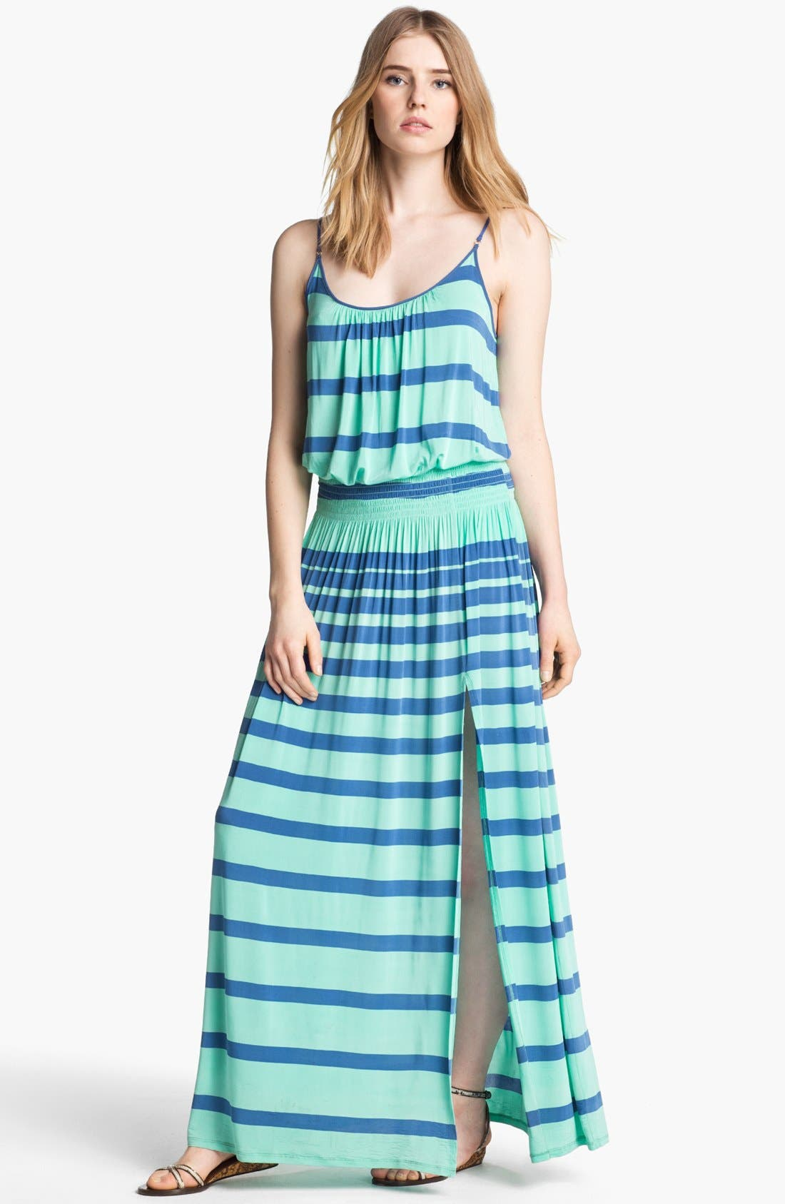 Main Image - Tracy Reese High Slit Jersey Maxi Dress