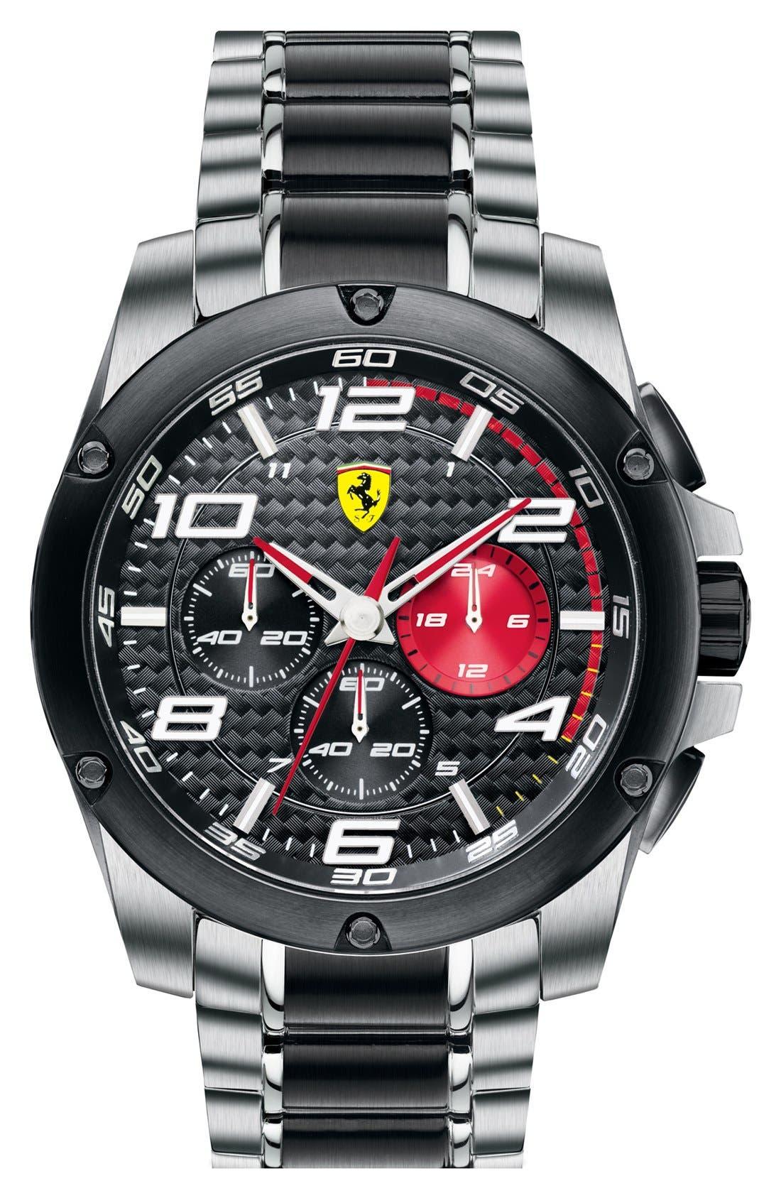 Alternate Image 1 Selected - Scuderia Ferrari 'Paddock' Chronograph Bracelet Watch, 46mm