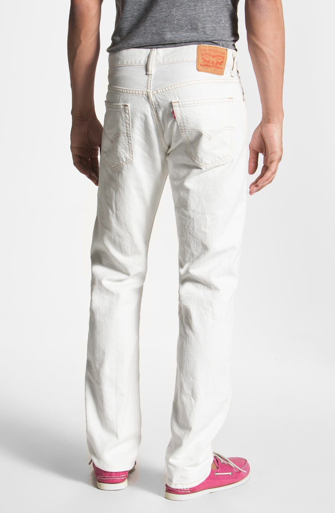 Alternate Image 1 Selected - Levi's® '513™' Slim Fit Jeans (Bright White)