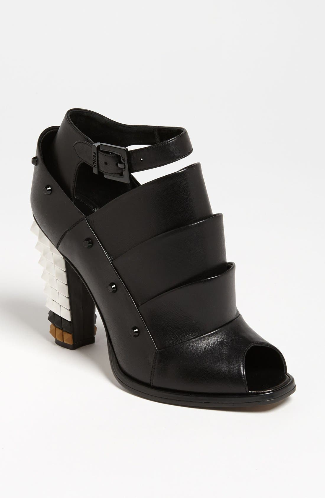 Alternate Image 1 Selected - Fendi Ankle Strap Bootie