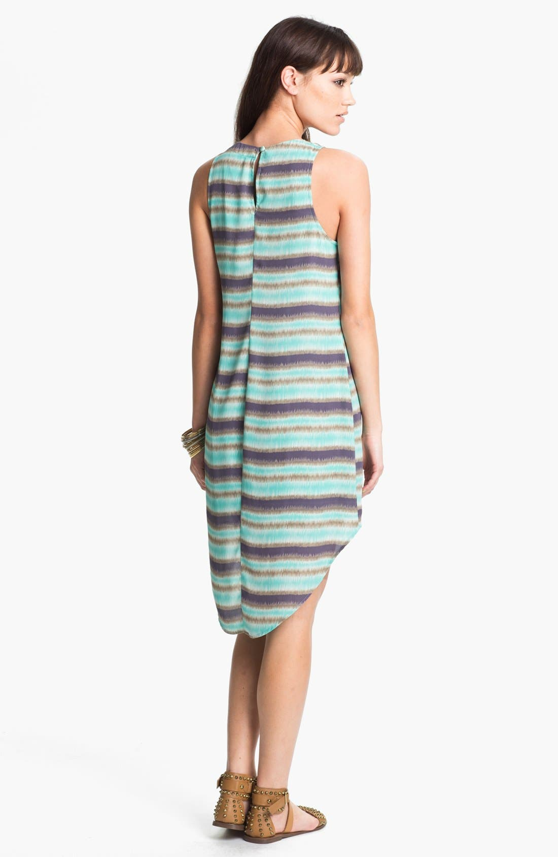 Alternate Image 2  - Lush Print High/Low Shift Dress (Juniors)