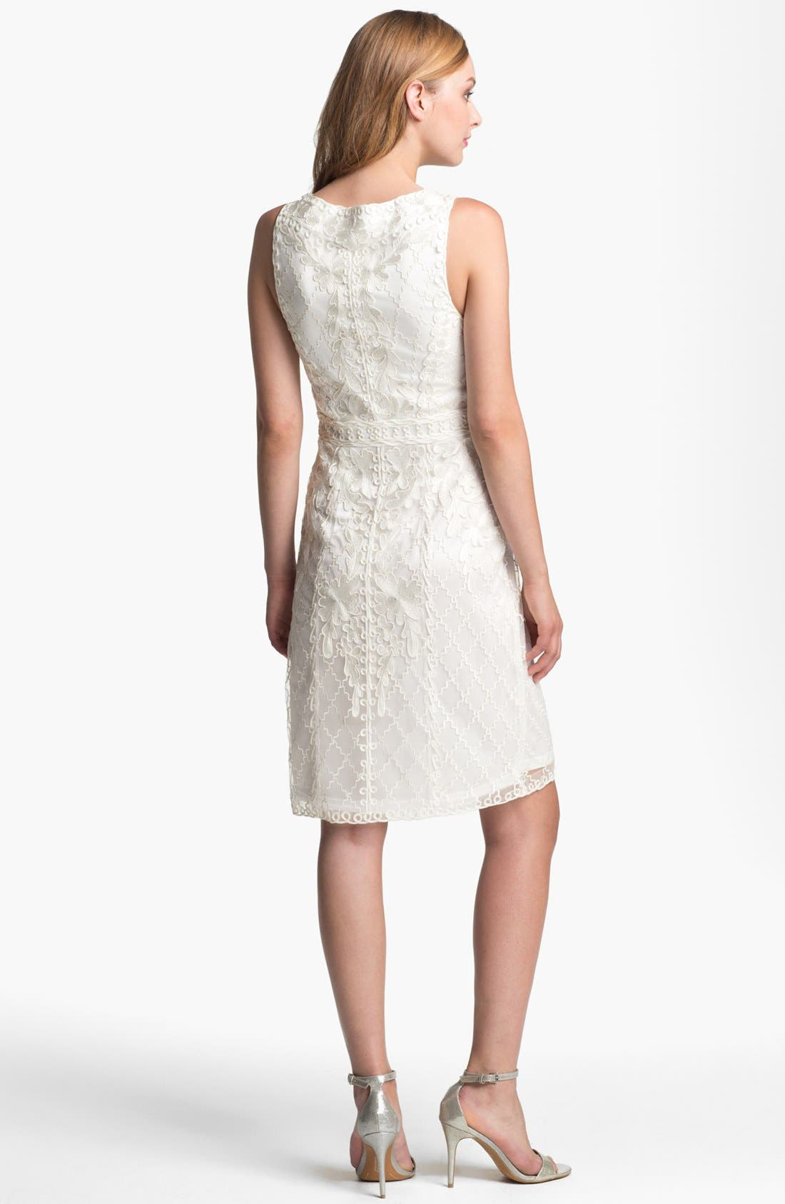 Alternate Image 2  - Sue Wong Embroidered Lace & Tulle Sheath Dress