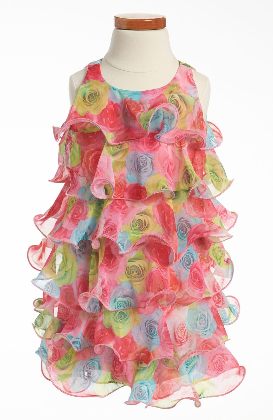 Alternate Image 1 Selected - Biscotti Ruffle Dress (Toddler)