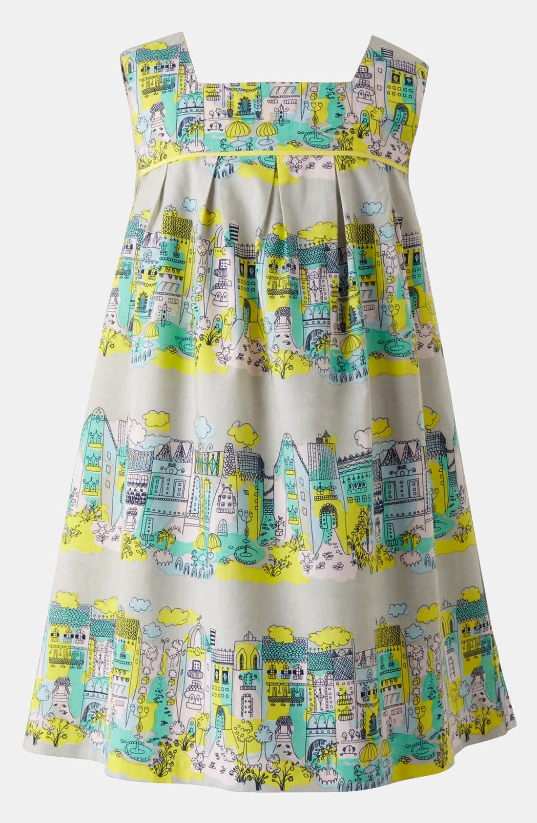 Alternate Image 1 Selected - Mini Boden Pleated Print Dress (Toddler)
