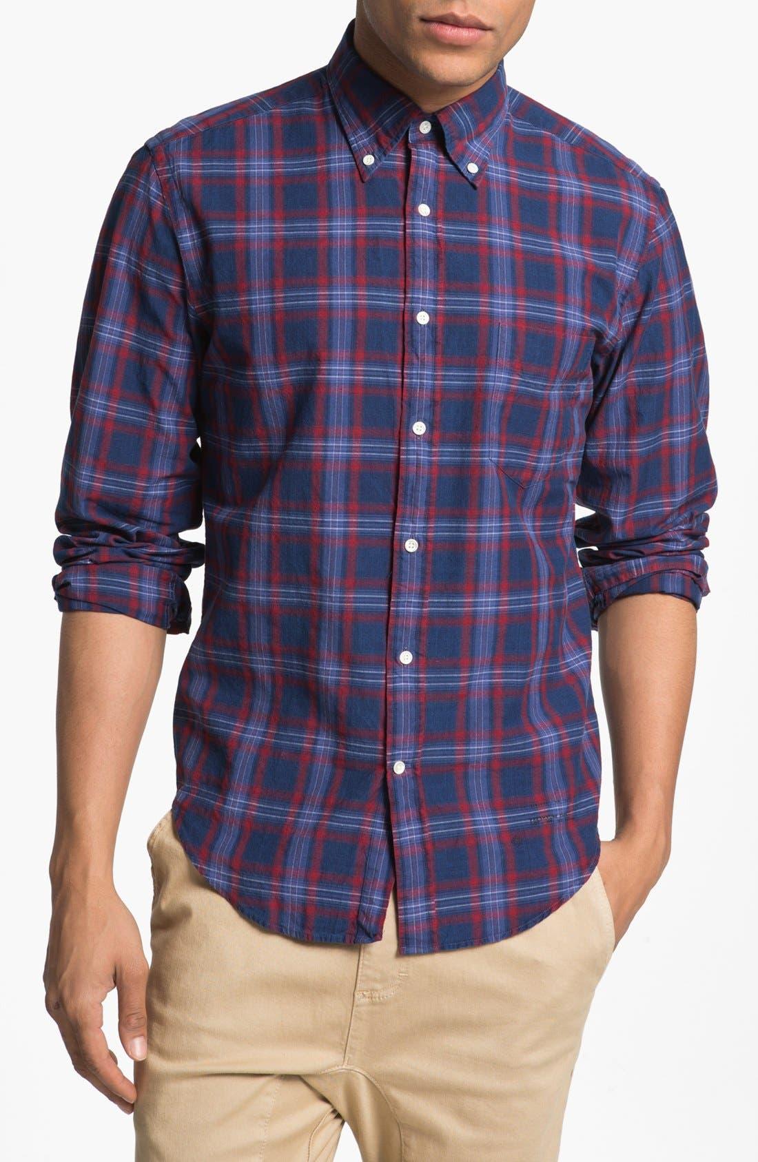 Alternate Image 1 Selected - Gant Rugger Check Plaid Shirt