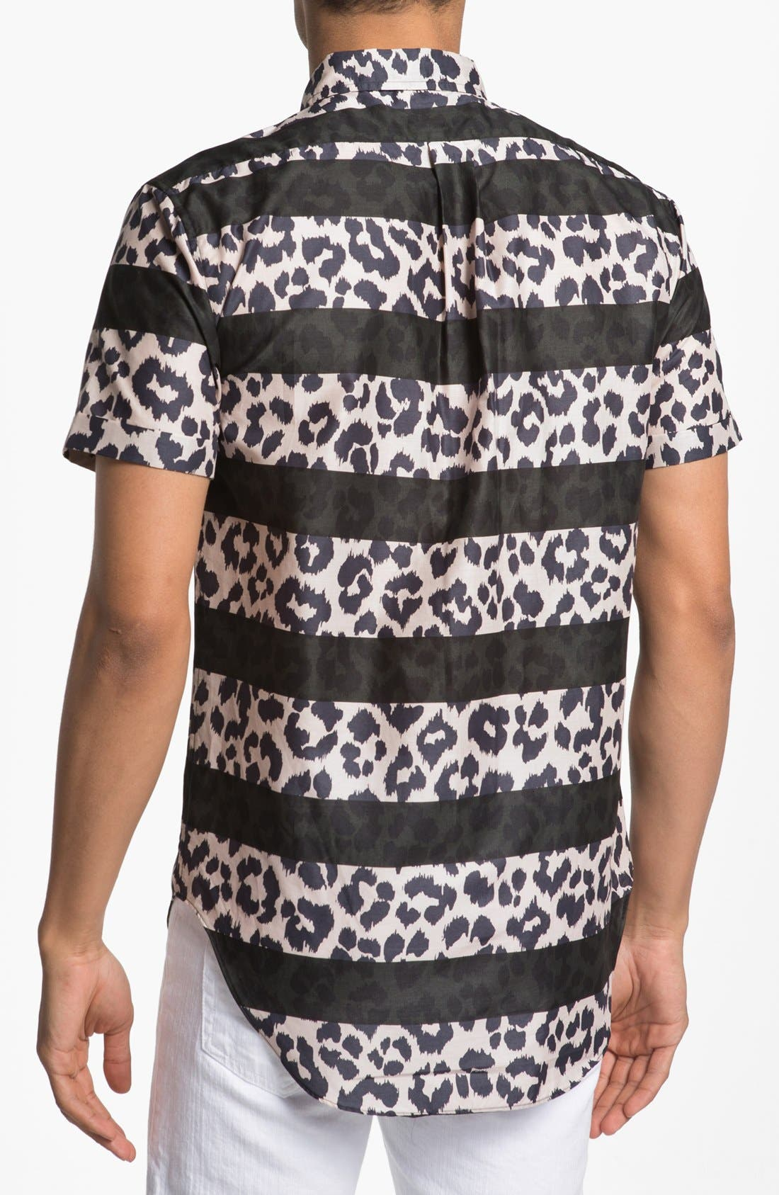Alternate Image 3  - MARC BY MARC JACOBS Stripe Cheetah Print Woven Shirt