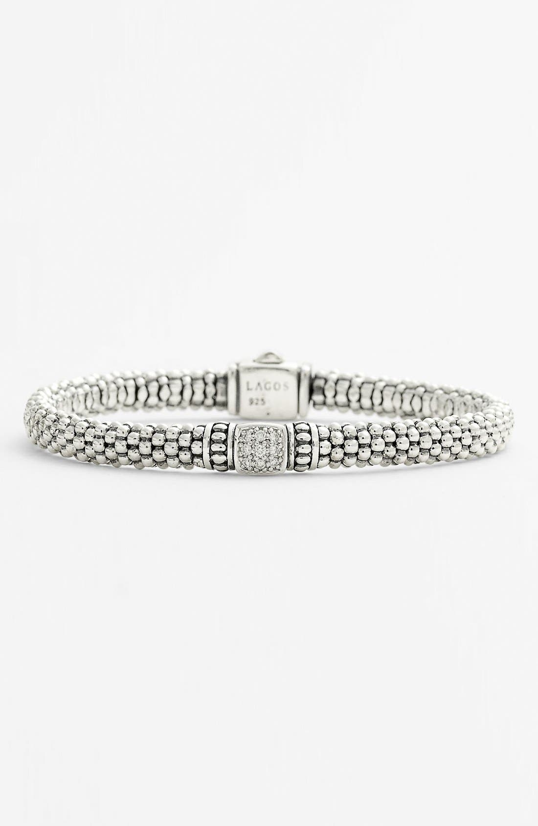 Alternate Image 1 Selected - Lagos Caviar Diamond Rope Bracelet