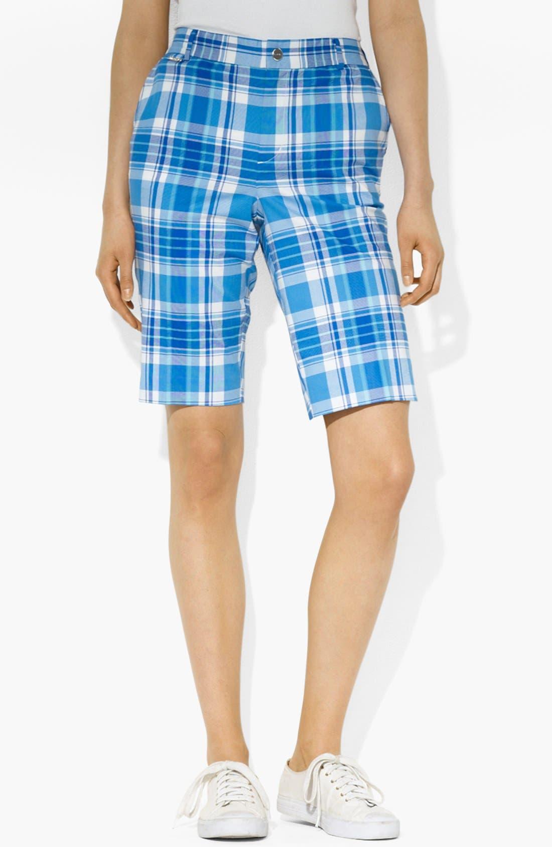 Alternate Image 1 Selected - Lauren Ralph Lauren Print Bermuda Shorts (Petite)